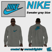 Nike Sweater Gray Blue