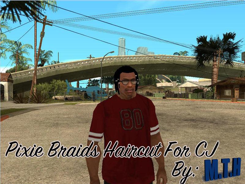 Gta San Andreas Pixie Braids Haircut For Cj Mod Gtainside