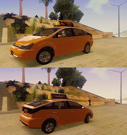 GTA San Andreas Karin Dilettante Taxi Mod - GTAinside.com