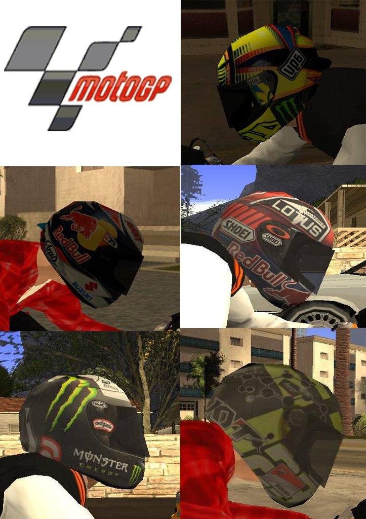 GTA San Andreas NPC Helmet V2.5 MotoGP Edition Mod - GTAinside.com