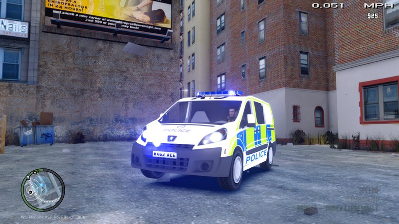 GTA 4 West Midlands Police Peugeot Expert Cell Van Mod - GTAinside com