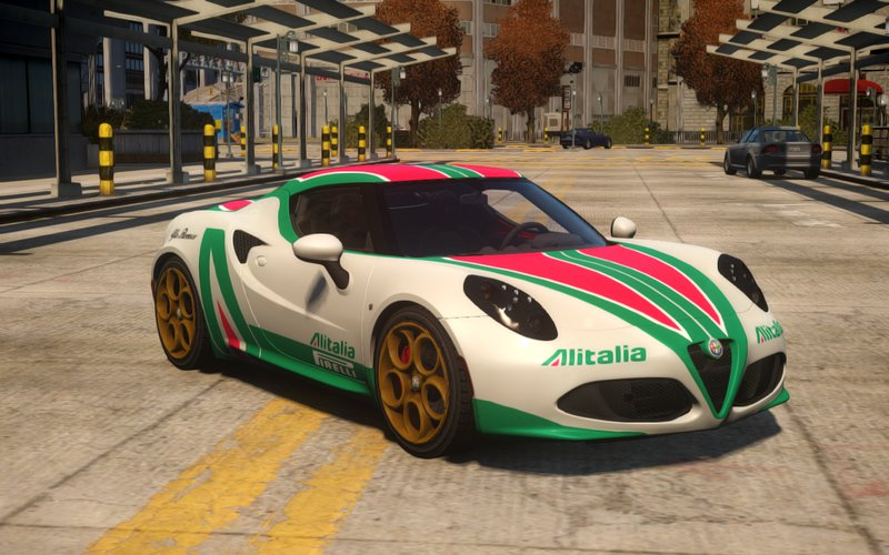 "Alfa Romeo 4C >> GTA 4 2014 Alfa Romeo 4C ""Alitalia"" Paintjob Mod - GTAinside.com"