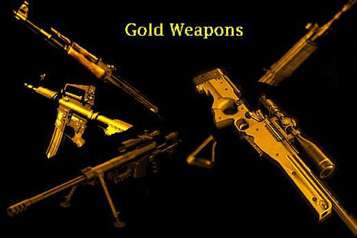 Realistic Gold Weapon Packs 2.0