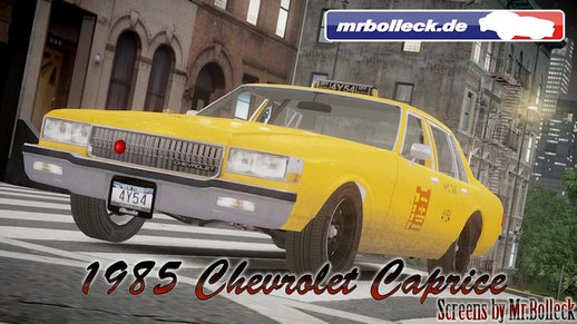 1985 Chevrolet Caprice NYC Taxi