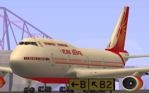 Boeing 747-437 Air India Tanjore Old And new skin