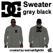 DC Sweater Gray Black