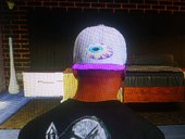 White&Purple Cap with neversoft eye