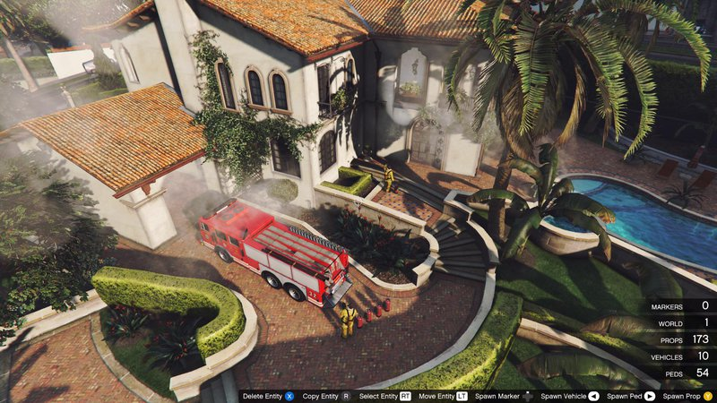 GTA 5 Michael House on Fire by DJ SCREAM v1 0 Mod - GTAinside com