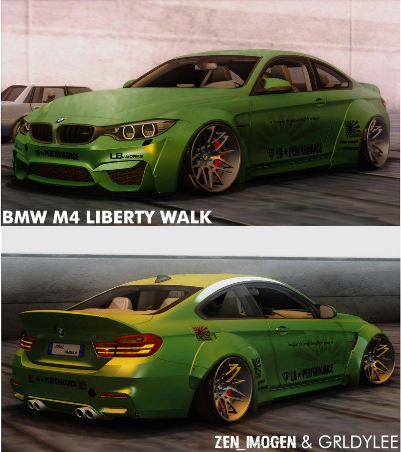 GTA San Andreas 2014 BMW M4 Liberty Walk Mod