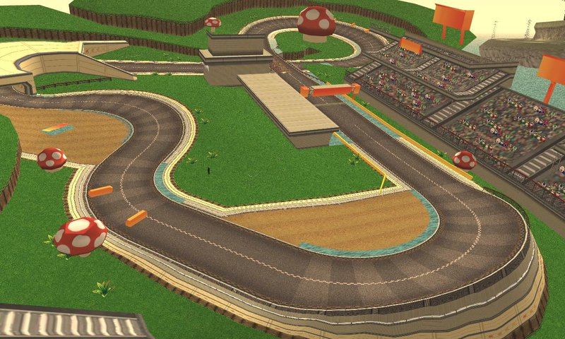 gta san andreas toad circuit from mario kart 7 nintendo 3ds mod. Black Bedroom Furniture Sets. Home Design Ideas