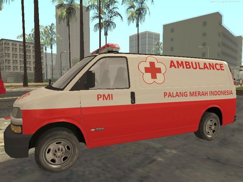 Gta San Andreas Indonesian Pmi Ambulance Mod Gtainside Com