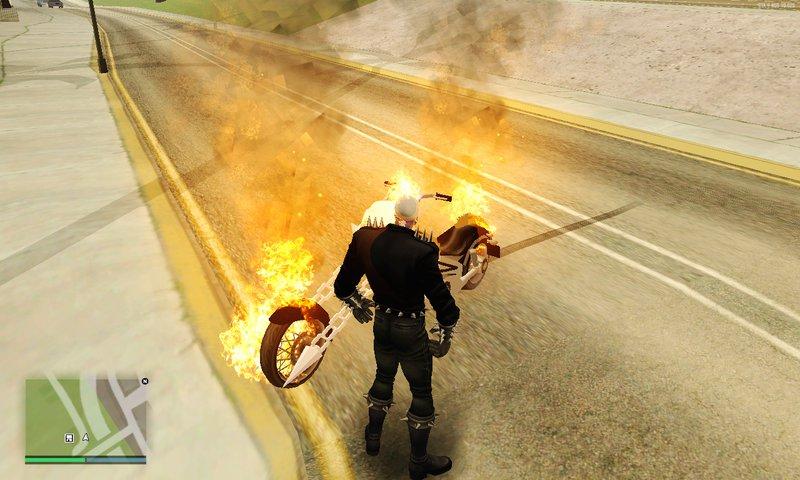 GTA San Andreas Ghost Rider Mod v1 1 Mod - GTAinside com