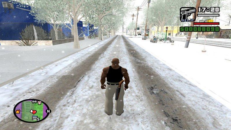 скачать мод на снег на Gta San Andreas - фото 8