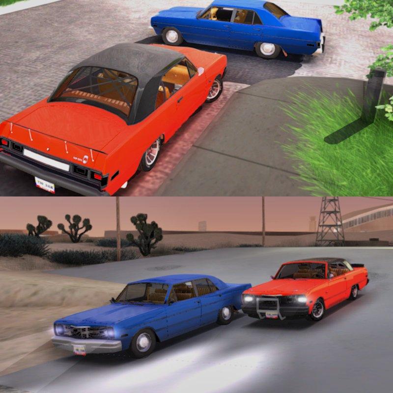 GTA San Andreas Dodge Dart 75 Mod