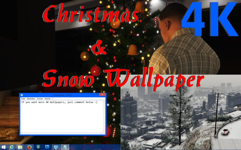 Gta 5 Christmas.Gta 5 4k Christmas And Snow Wallpaper Package Mod