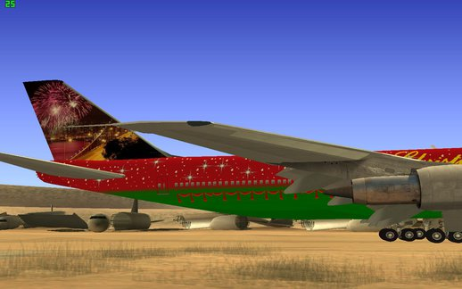 Boeing 747-100 Merry Christmas And Happy New year