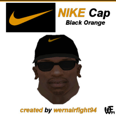 Nike Cap Black Orange
