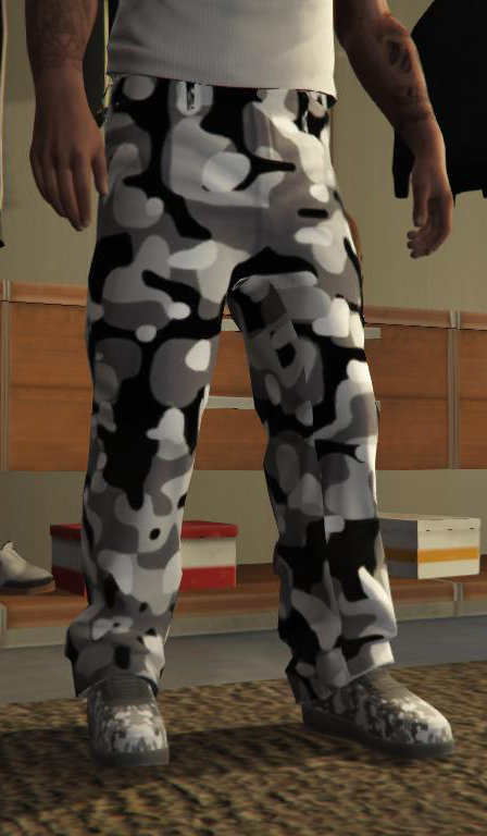 Black/Grey/White Camouflage Pant