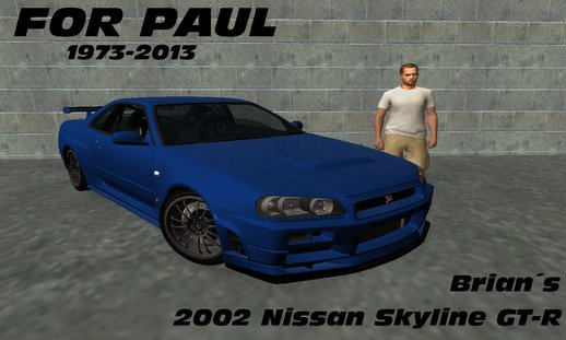2002 Nissan Skyline GT-R R34 Fast And Furious 4 FINAL