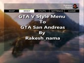 NEW GTA V Style Menu to GTA SA