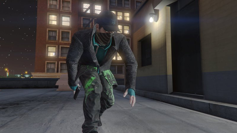GTA 5 Aiden Pearce + Real Mask and Inner Shirt Model + Real Head Mod