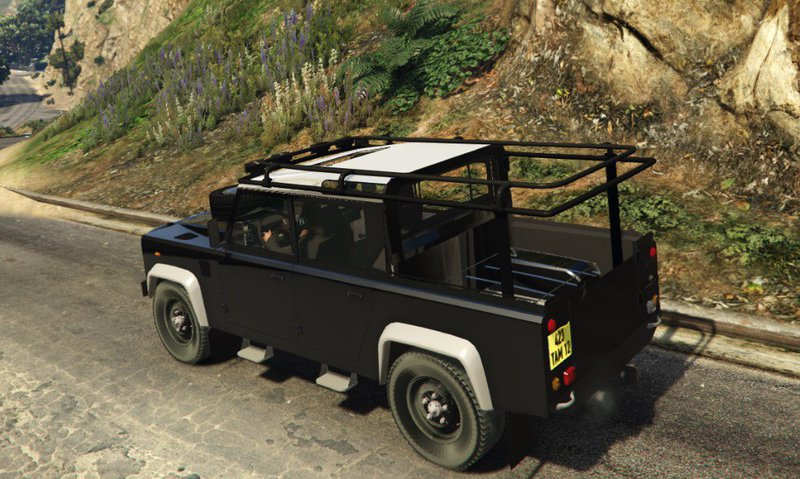 gta 5 land rover defender 110 pickup mod. Black Bedroom Furniture Sets. Home Design Ideas