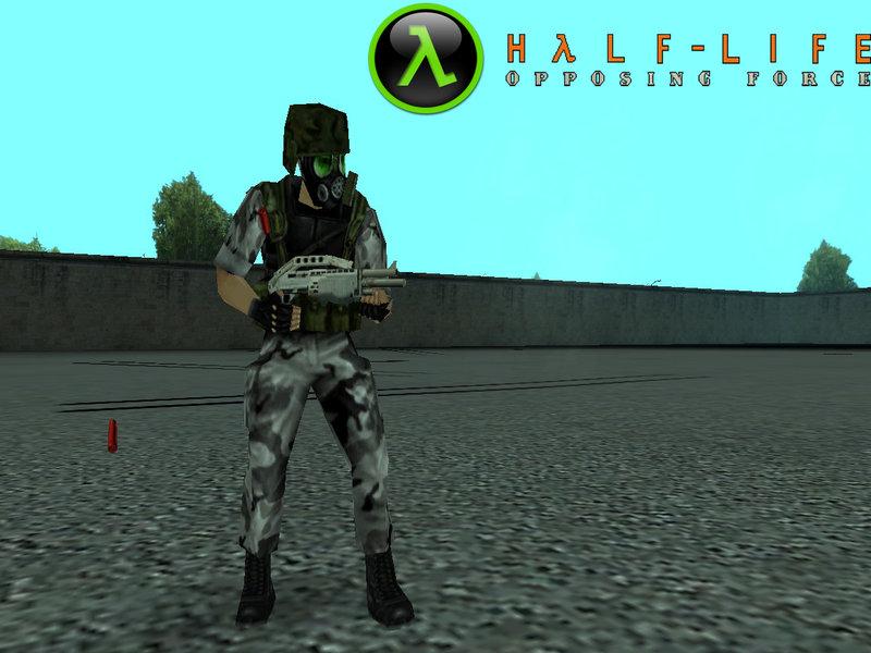 GTA San Andreas Shephard From Half-Life Opposing Force Mod