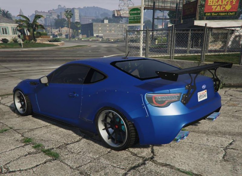 gta 5 2016 subaru brz sti version with tuning parts mod. Black Bedroom Furniture Sets. Home Design Ideas