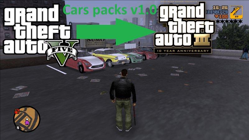 GTA 3 GTA V car pack to GTA III Mod - GTAinside com
