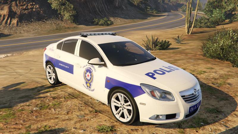 gta 5 opel insignia türk polisi mod - gtainside
