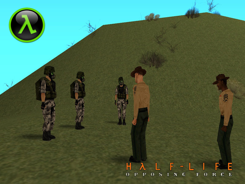 GTA San Andreas Instructor From Half-Life Opposing Force Mod