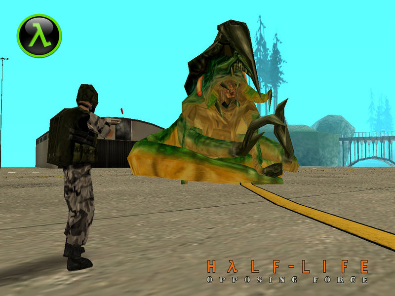 GTA San Andreas Geneworm (Final Boss) From Half-Life