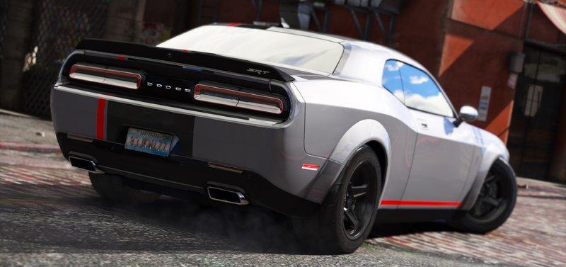 Gta 5 2016 Dodge Challenger Add On Stock Shaker Hellcat