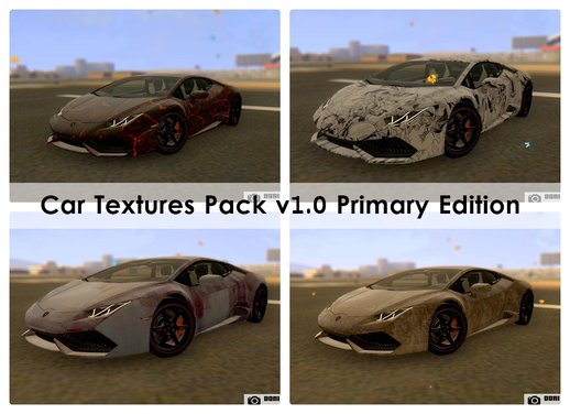 Car Textures Pack v1.0 Primary Edition