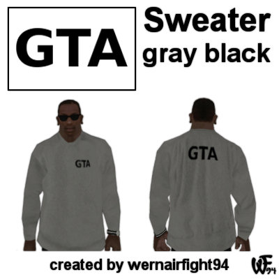 GTA Sweater Gray Black