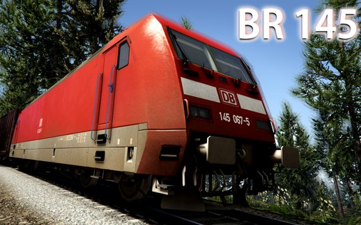 German Railcar (Bombadier Traxx DB BR 145) - Train Mod [Enterable]