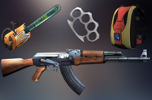 San Andreas INSANITY Weapons Items