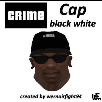 Crime Cap Black White