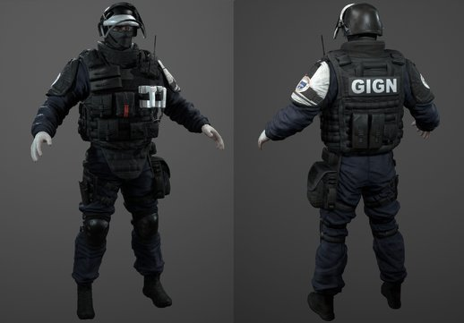 GIGN From Rainbow Six Siege and SCP MTF