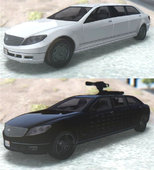 GTA IV/V Benefactor Stretch E & Turreted