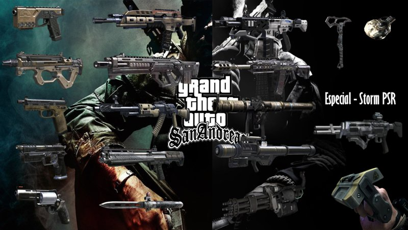Gta San Andreas Guns Of Call Of Duty Black Ops 2 Mod Gtainside Com