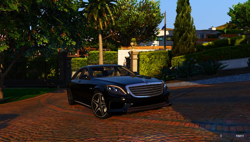 Mercedes Benz Silver Lightning >> GTA 5 Mercedes Benz S-class ///AMG Mod - GTAinside.com