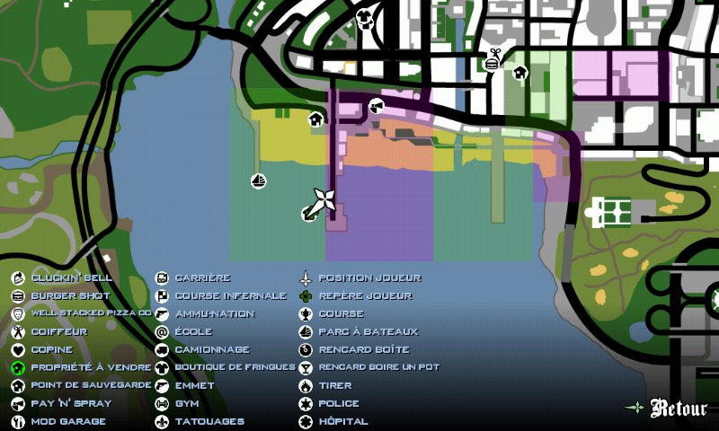 Gta San Andreas Safe Houses Map