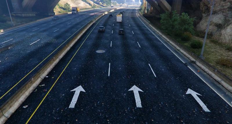 GTA 5 GTA V New HQ Road Texture (Highway,City) Mod