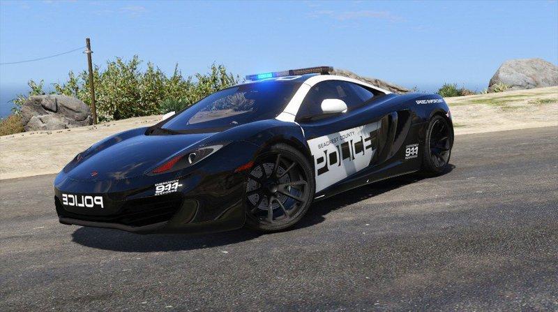 gta 5 mclaren mp4 12c - seacrest county police + template mod