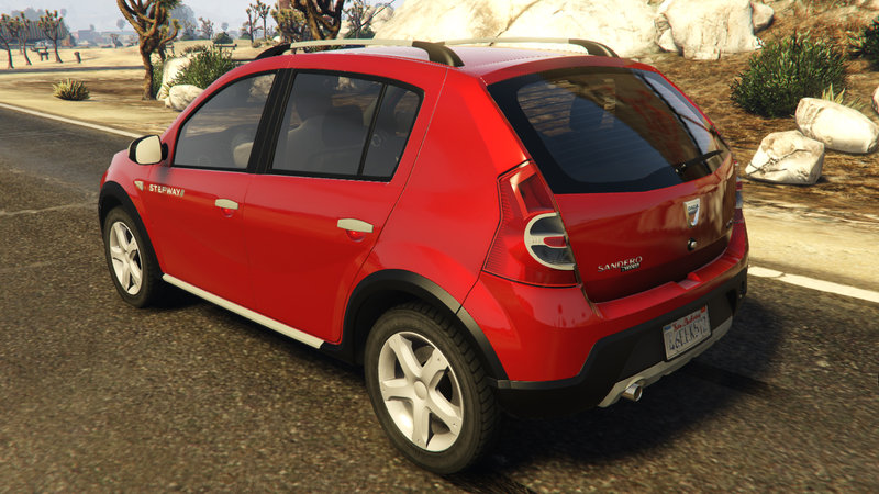 gta 5 dacia sandero stepway 2008 mod. Black Bedroom Furniture Sets. Home Design Ideas