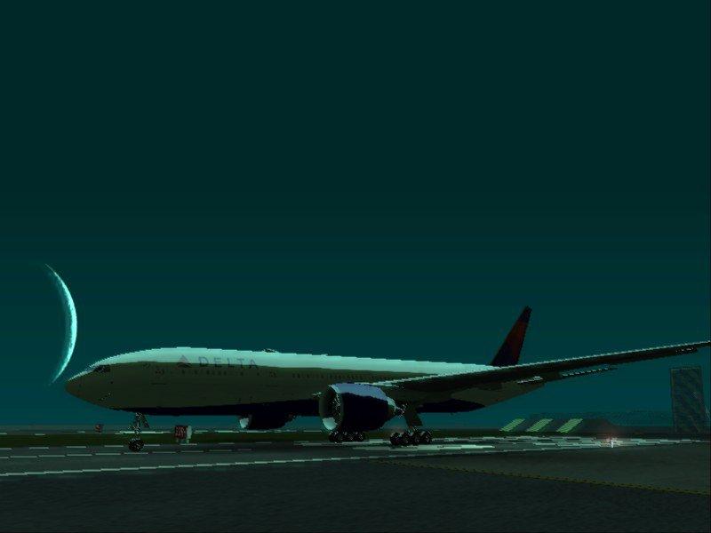 GTA San Andreas Delta Air Lines Boeing 777-200LR Mod