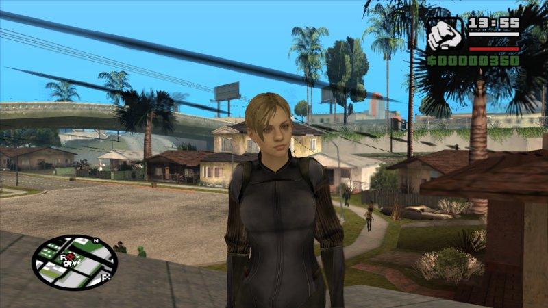 Gta San Andreas Jill Valentine Battlesuit Closed Re5 Mod