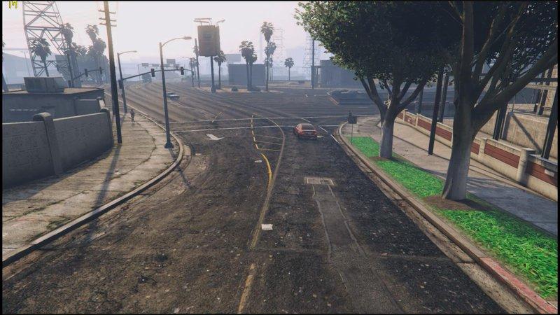 GTA 5 New Roads, Grass, Pavements Version 2 Mod - GTAinside com