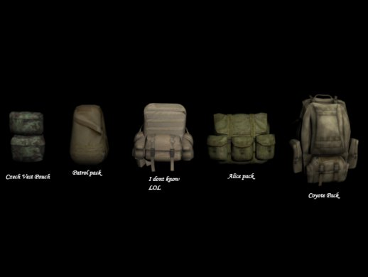 Arma II Backpacks (Patrol/Alice/Coyote/etc.)